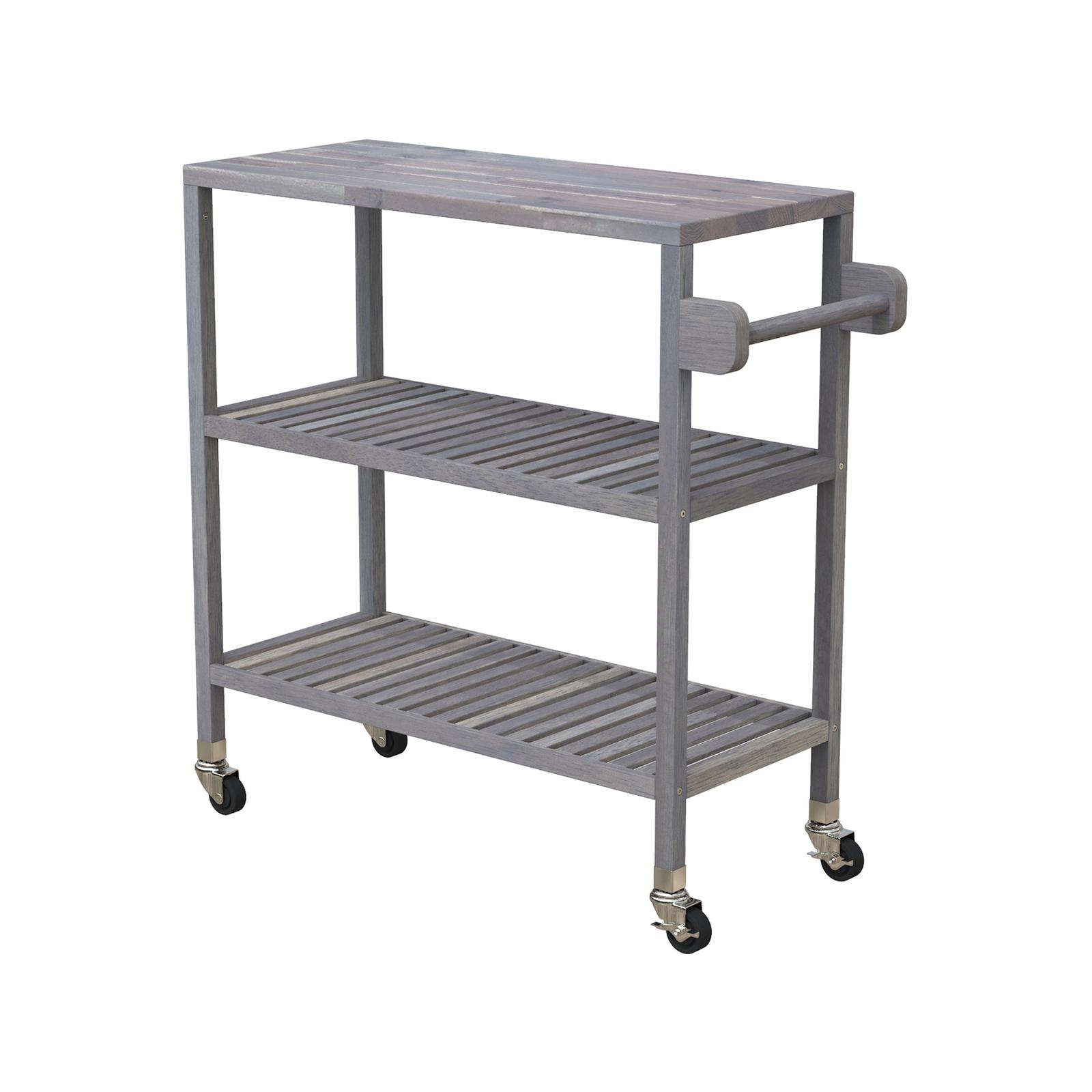 Interbuild 80 x 35 x 85cm Dusk Grey Holger Turbo Kitchen Cart