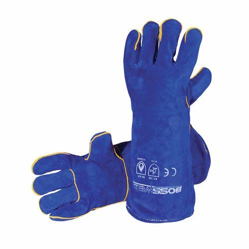 "Bossweld 16"" Blue Welding Gloves"