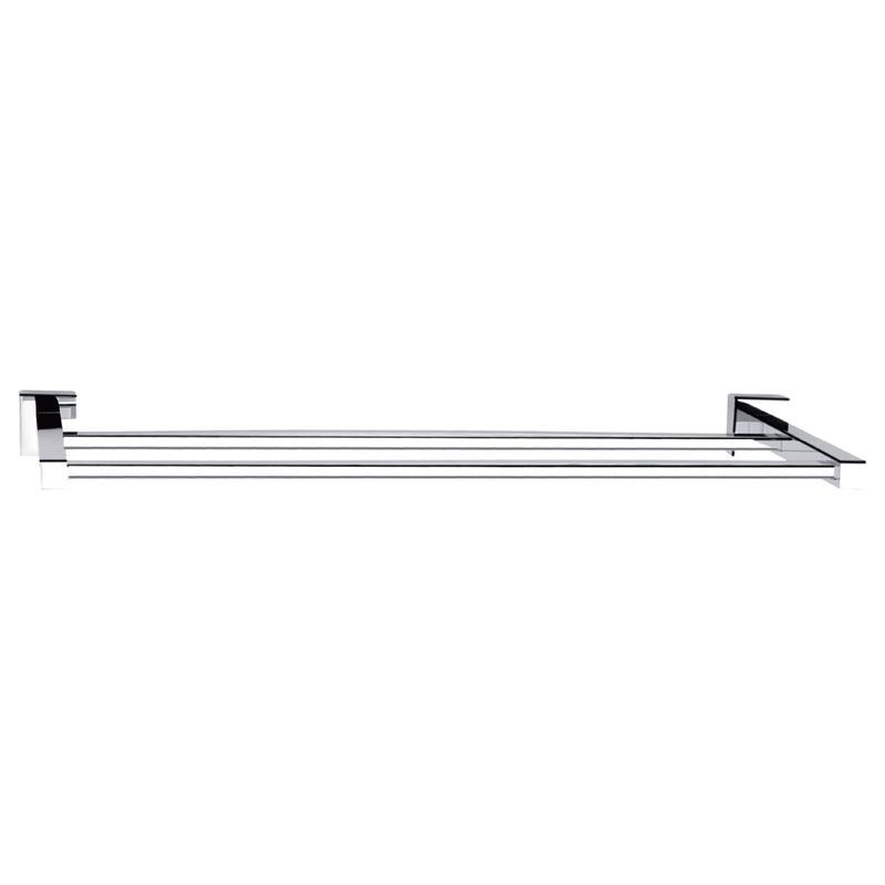 Rococo 900mm Chrome Double Towel Rail