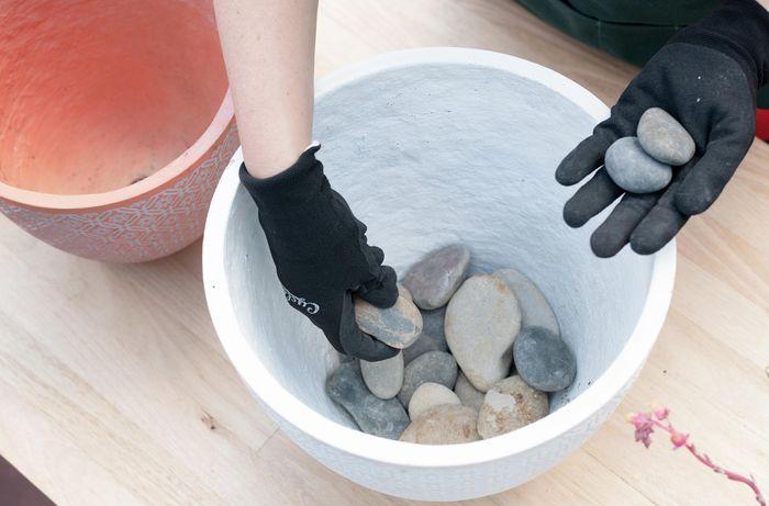 adding rocks
