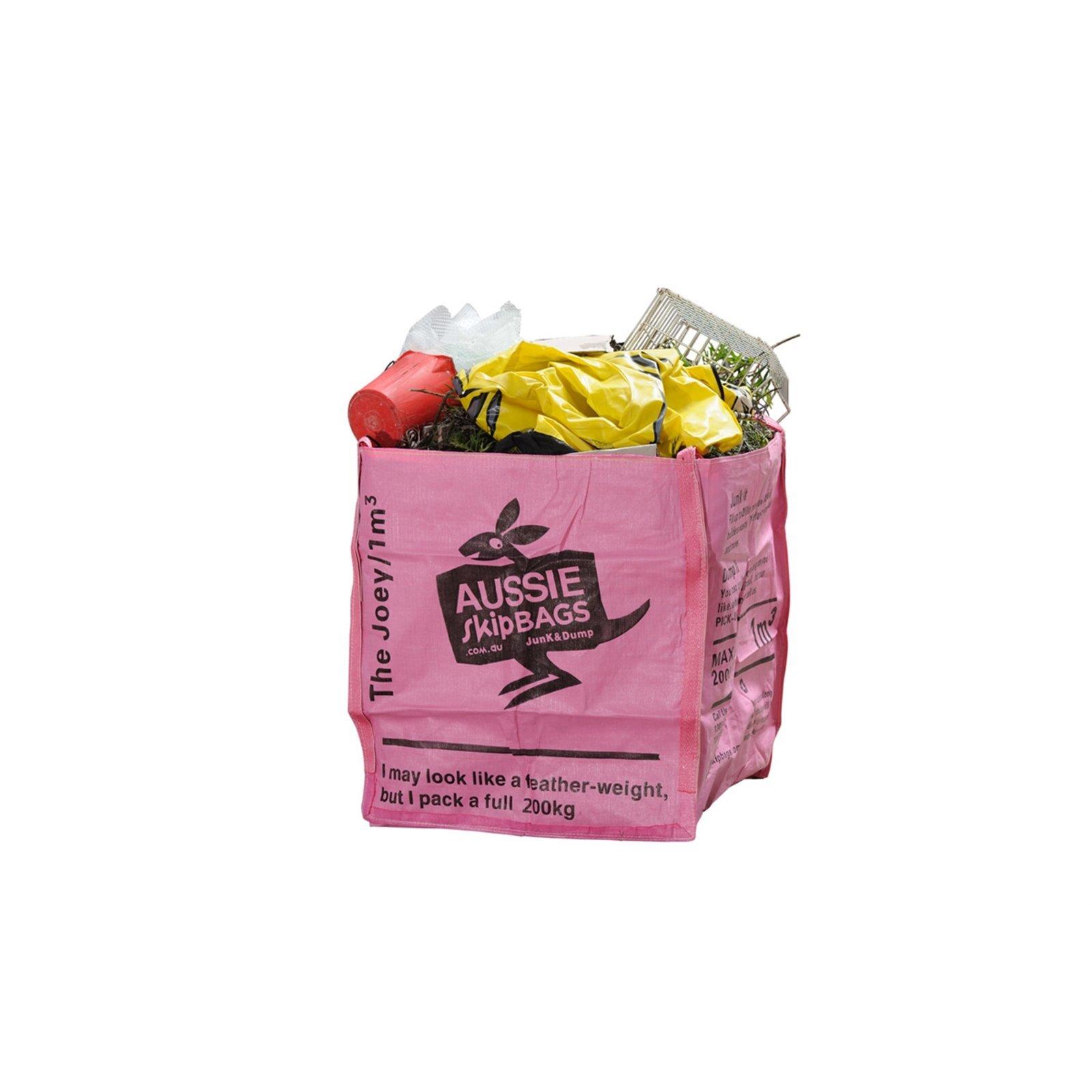 Aussie Skip Bag 1 x 1 x 1m  Disposable Bag - The Joey 200kg Max