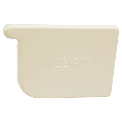COLORBOND 115mm RH Quad Gutter Stop End - Classic Cream