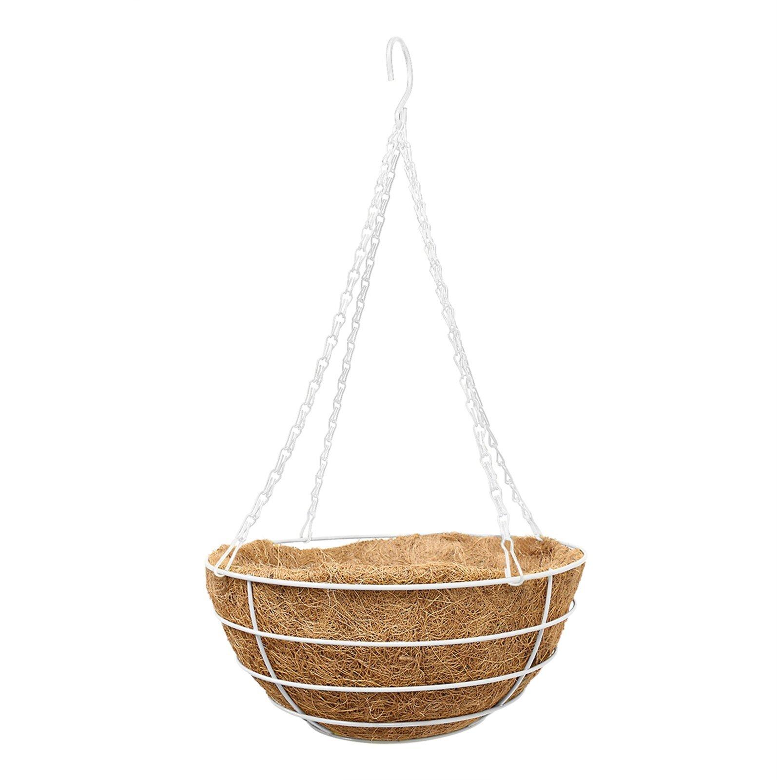 Whites 35cm White Granada Hanging Basket