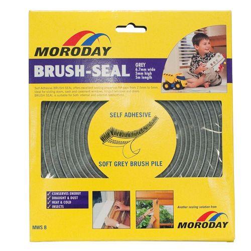 Moroday Grey Self Adhesive Brush-Seal