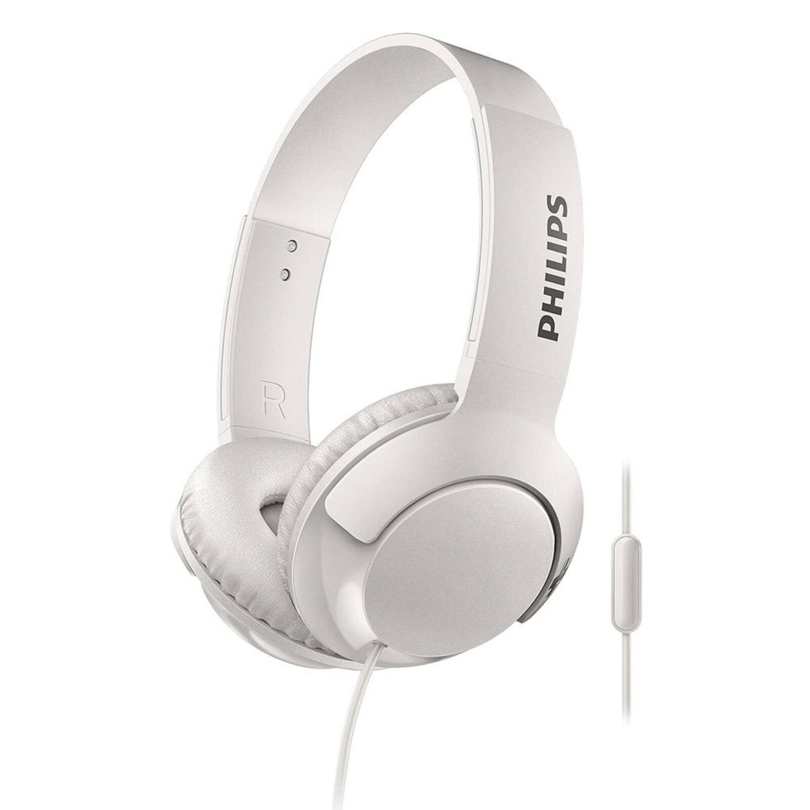 Philips SHL3075WT Headphones Headband Headset mic for Smartphones Apple Android
