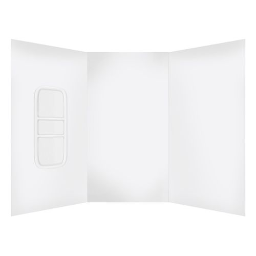 Stein 900 x 1200 x 900 x 2000mm 3 Sided Moulded Shower Liner