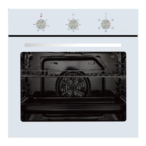 Parmco 600mm 76L White 5 Function Oven
