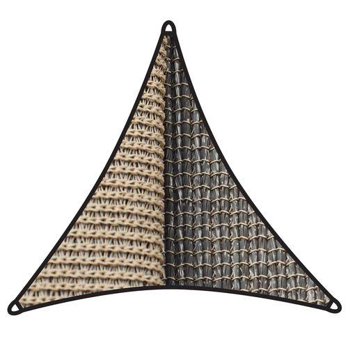 Coolaroo 5 x 5m Cobblestone Triangle Dual Shade Sail