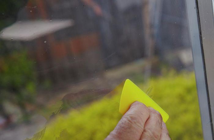 DIY Step Image - Install window film . Blob storage upload.