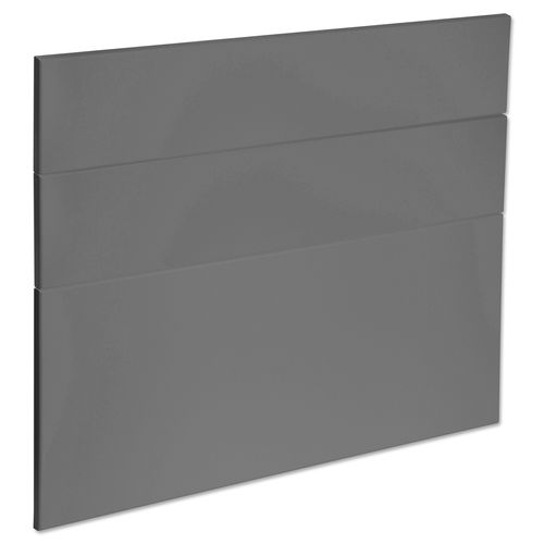 Kaboodle 900mm Smoked Grey Modern 3 Drawer Panels