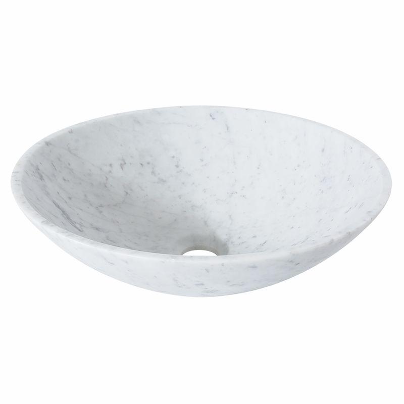 Signature Round Carrara Marble Basin