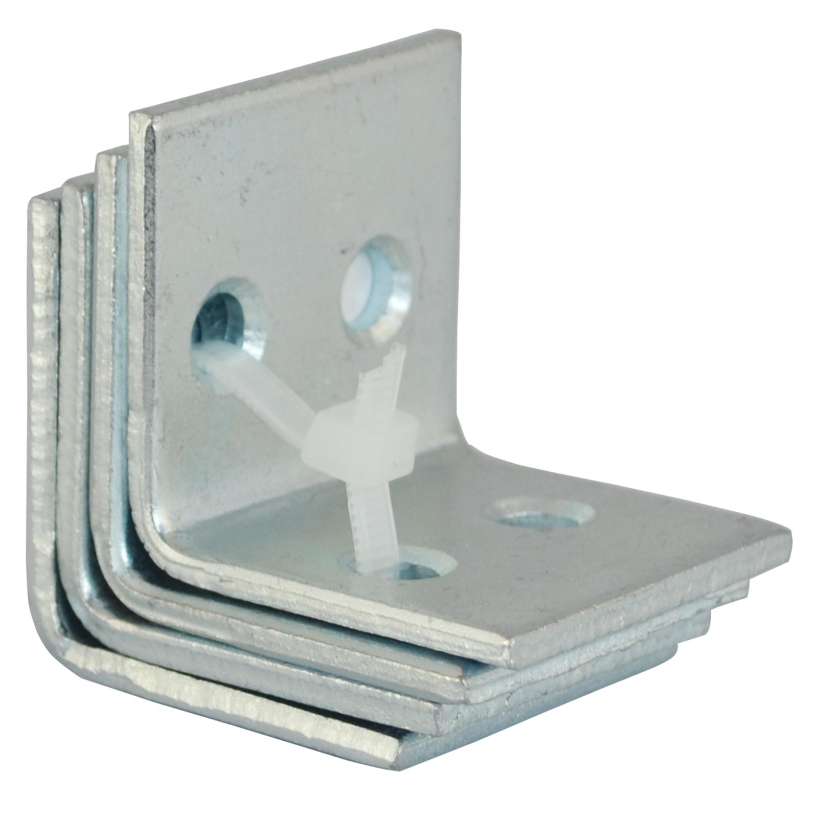 Carinya 40 x 40 x 40 x 3.5mm Zinc Plated Angle Bracket - 4 Pack