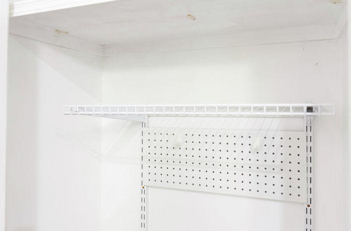 Pegboard in a cupboard