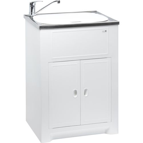 Milena SOLO 45L SS Laundry Trough And Poly Cabinet With Lid