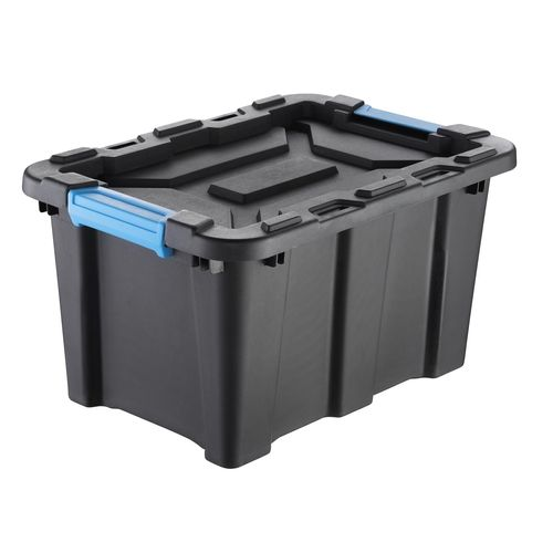 Inabox 25L Black & Blue Heavy Duty Storage Container