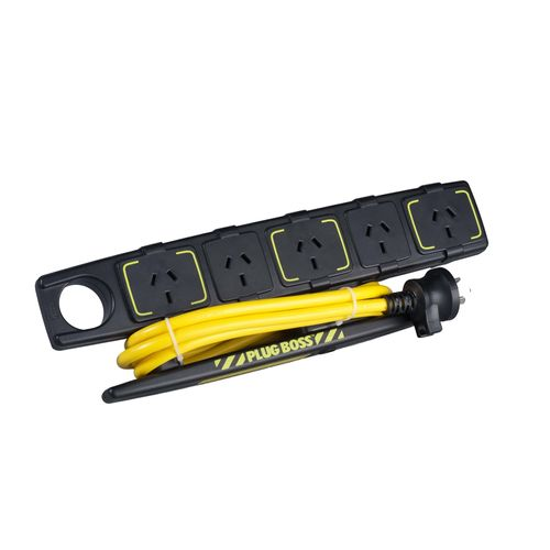 HPM 5 Outlet Plug Boss Powerboard