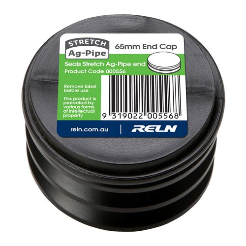 Reln Stretch Ag-Pipe 65mm End Cap