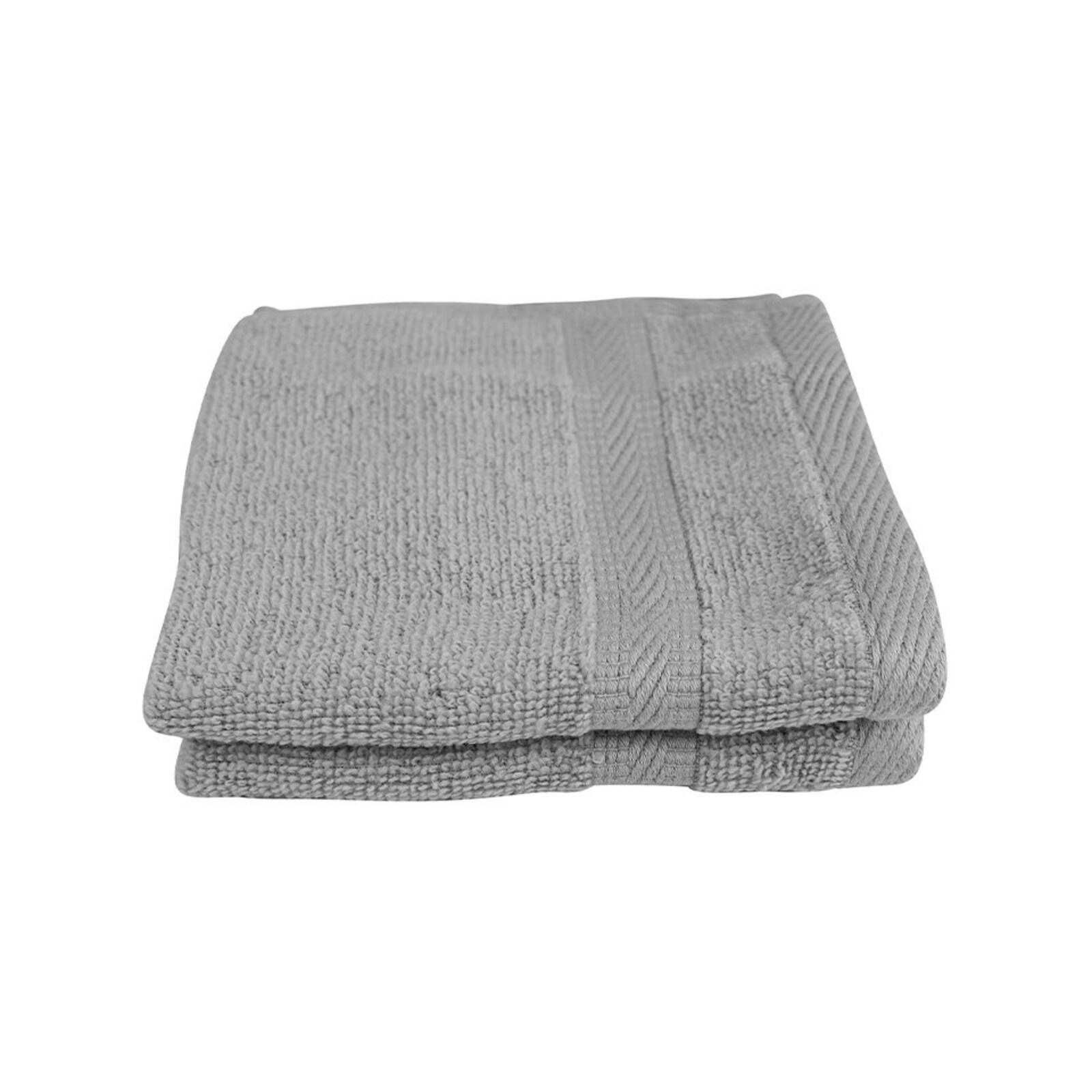 Odyssey Living Bondi Zero Twist Cotton Silver Oasis Face Washer 2 Pack