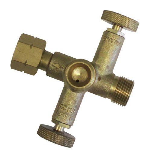 Gasmate Brass 2 Way Valve Gas Fitting