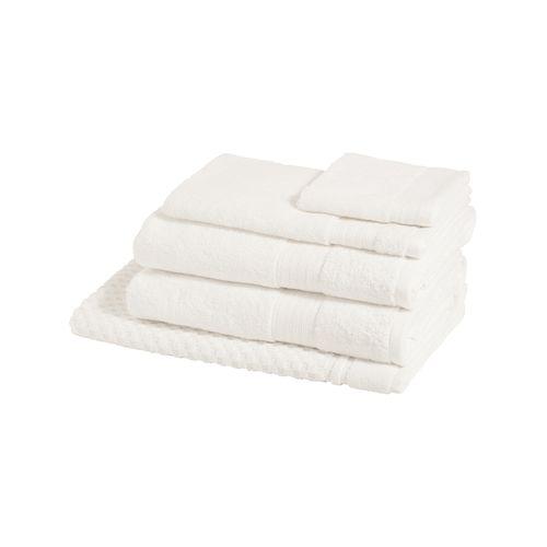 5pc Sheraton Luxury Egyptian Cotton Towel Pack Bath/Hand/Mat/Face Washer White