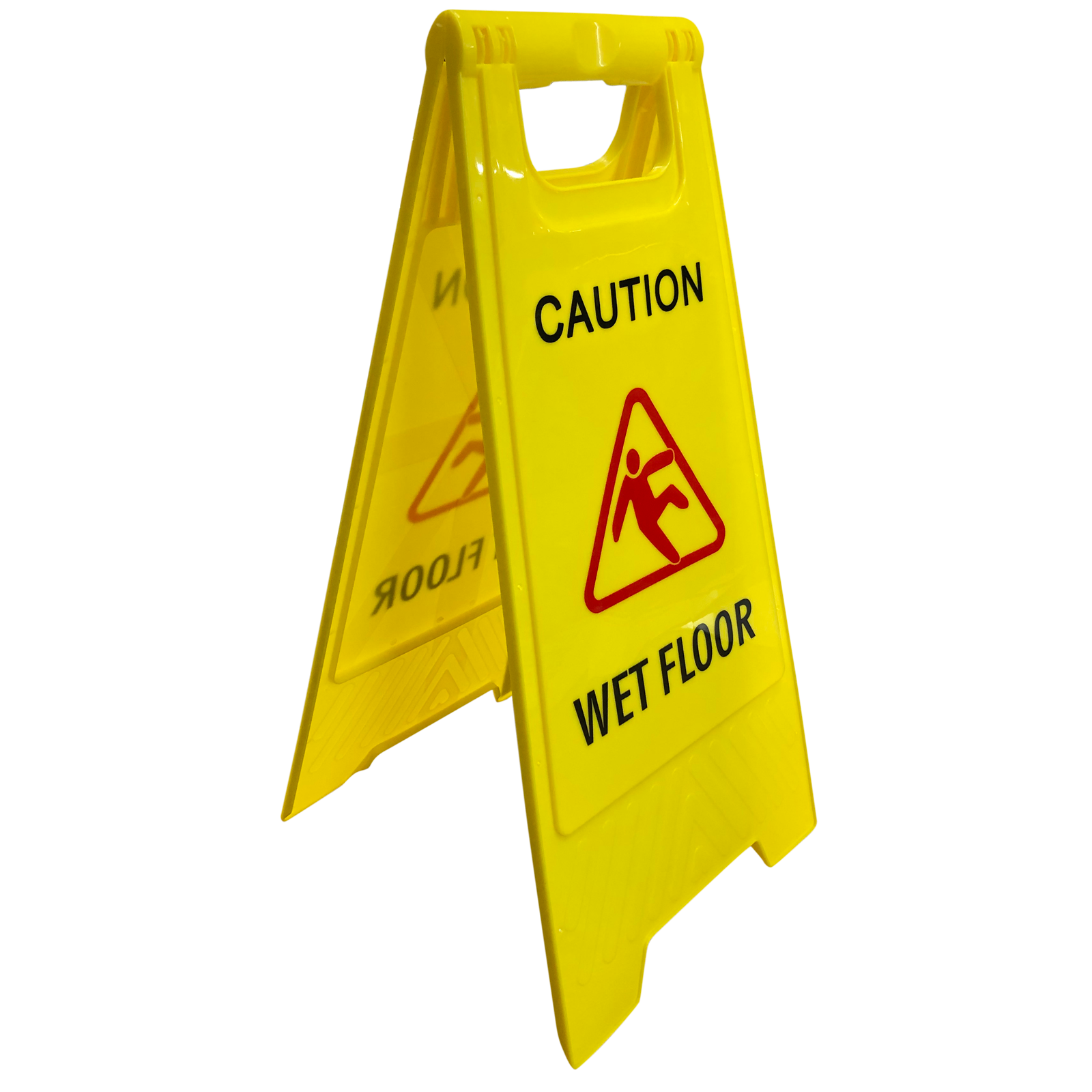 Builders Edge Safety Yellow Caution Floor Sign