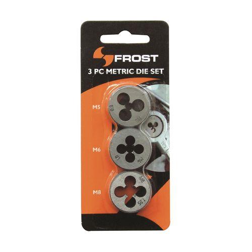 Frost 3 Piece M5/M6/M8 Metric Die Set