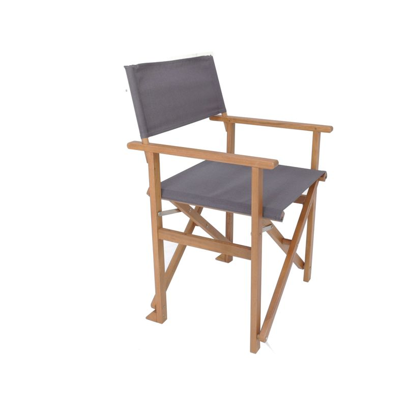 Charcoal Timber Directors Chair