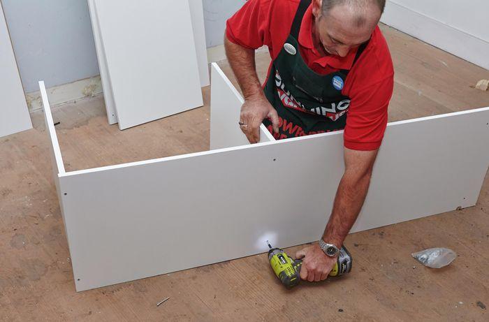DIY Step Image - How to assemble a wardrobe insert unit . Blob storage upload.