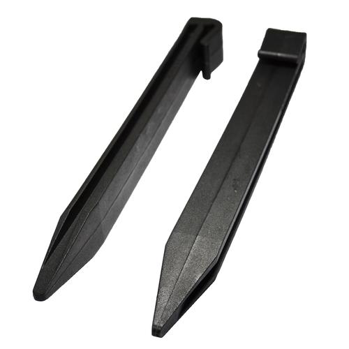 Icon Plastics 280 x 25mm Garden Edge Black Multi Peg