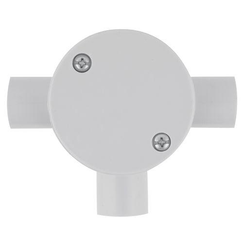 Deta 20mm Grey Conduit Fittings 3-Way RD Junction Box