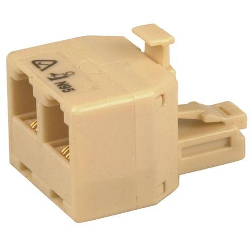 Jackson Double Adaptor RJ12 Type Connector 6P4C Telephone Accessory