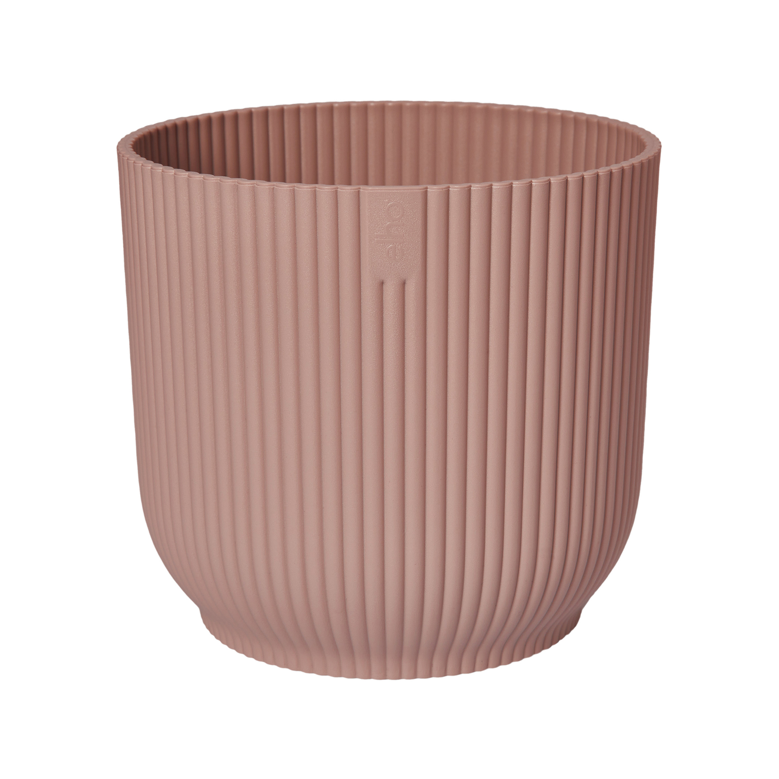 Elho 22cm Delicate Pink Vibes Round Recycled Plastic Pot