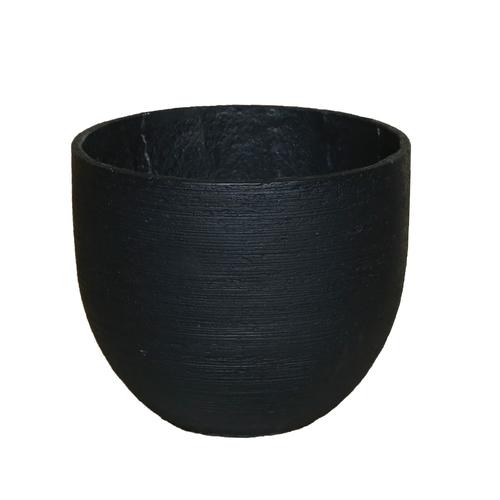Tuscan Path Black Large Stream Lite Egg Pot