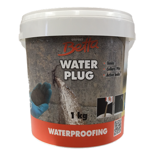 Gripset Betta 1kg Waterproofing Repair Compound Water Plug