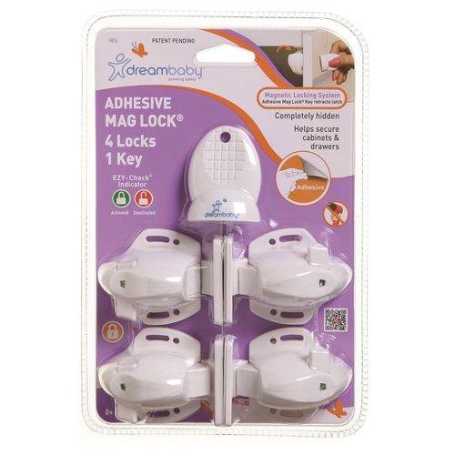 Dreambaby Child Safety Adhesive Mag Lock - 4 Pack