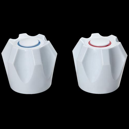 Shaw & Mason White PVC 6 Point Style Handles