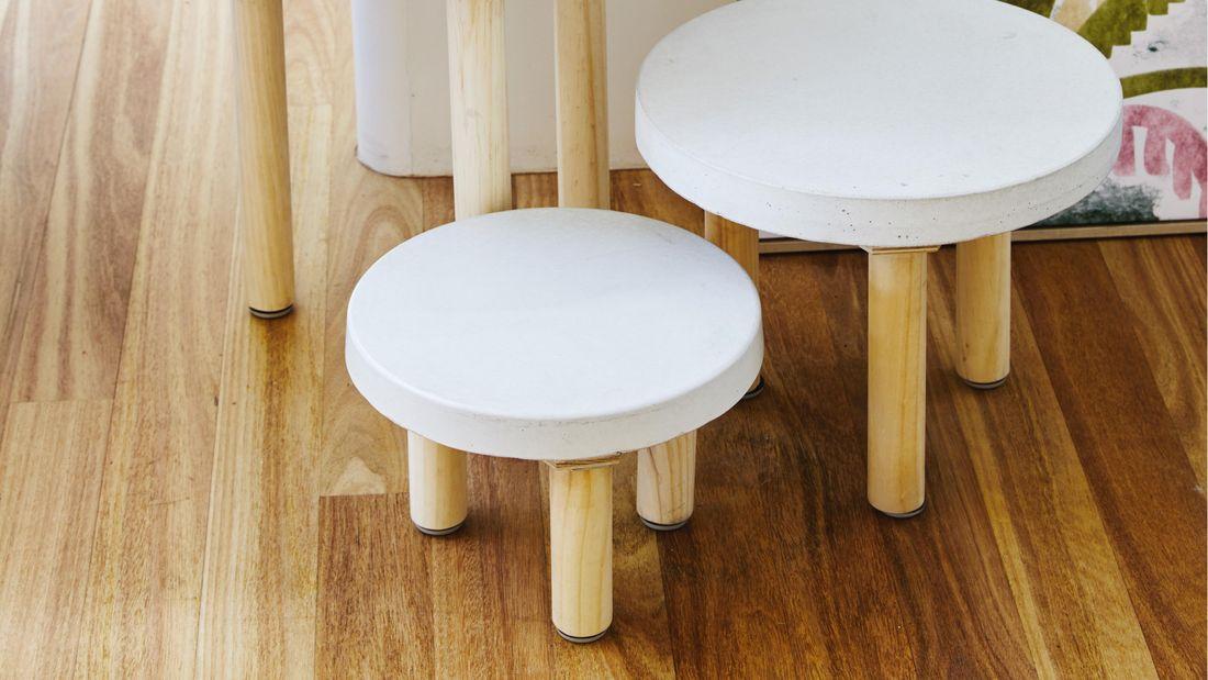 DIY Advice Image - How to make concrete paver side tables. G Drive blob storage upload.