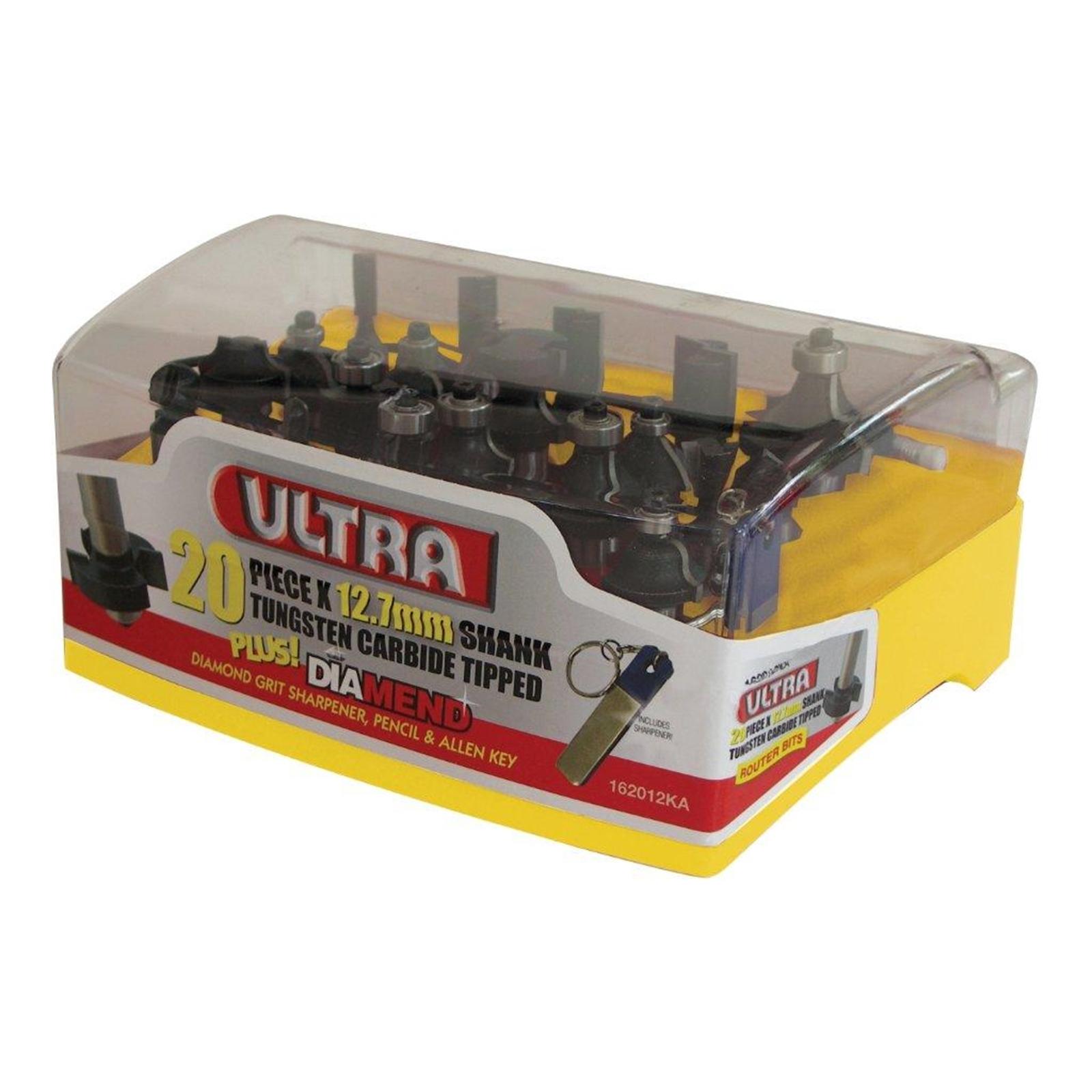 Ultra 20 Piece 12.7mm Router Bit Set