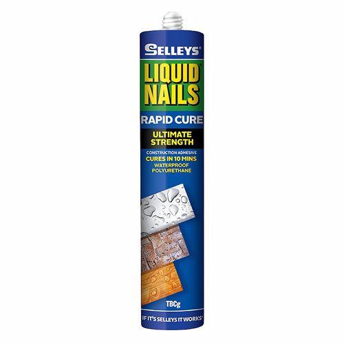 Selleys 325g Liquid Nails Rapid Cure Strong Waterproof Adhesive