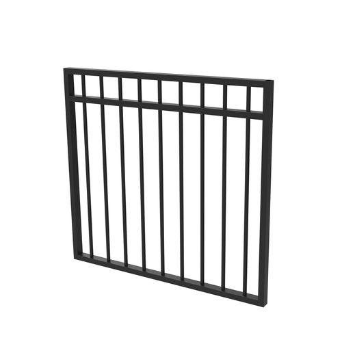 Protector Aluminium 975 x 900mm Double Top Rail All Up Garden Gate - To Suit Self Closing Hinges - Satin Black