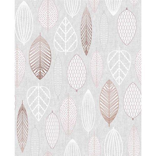 Superfresco Easy 52cm x 10m Blush Scandi Leaf Wallpaper