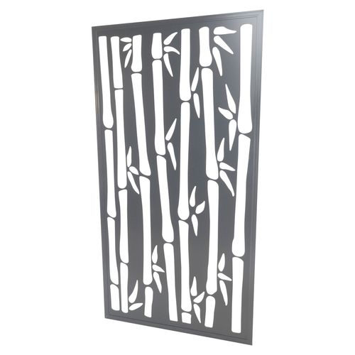 600 x 900mm ACP Bamboo Decorative Panel Unframed - Silver Matte