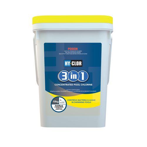 Hy-Clor 10kg 3 In 1 Pool Chlorine