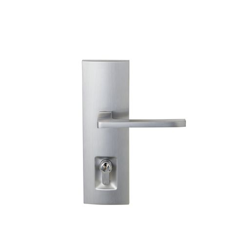 Delf Trade Satin Chrome Single Cylinder Linear Elba Secure Entrance Lever Set