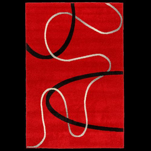 Chrome Rug Red Thread 160 x 235CM