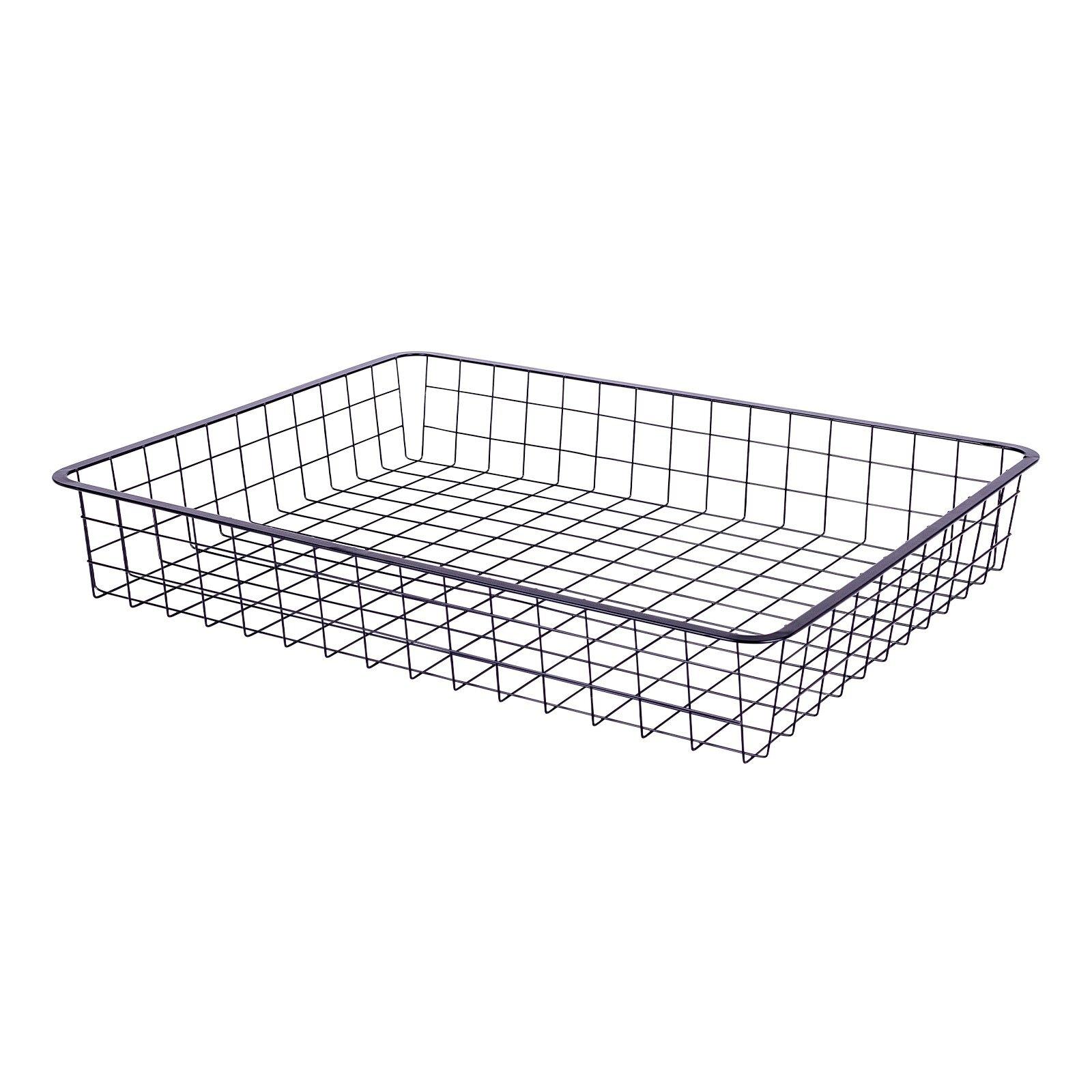 Flexi Storage Home Solution 85mm Black 1 Runner Wire Basket