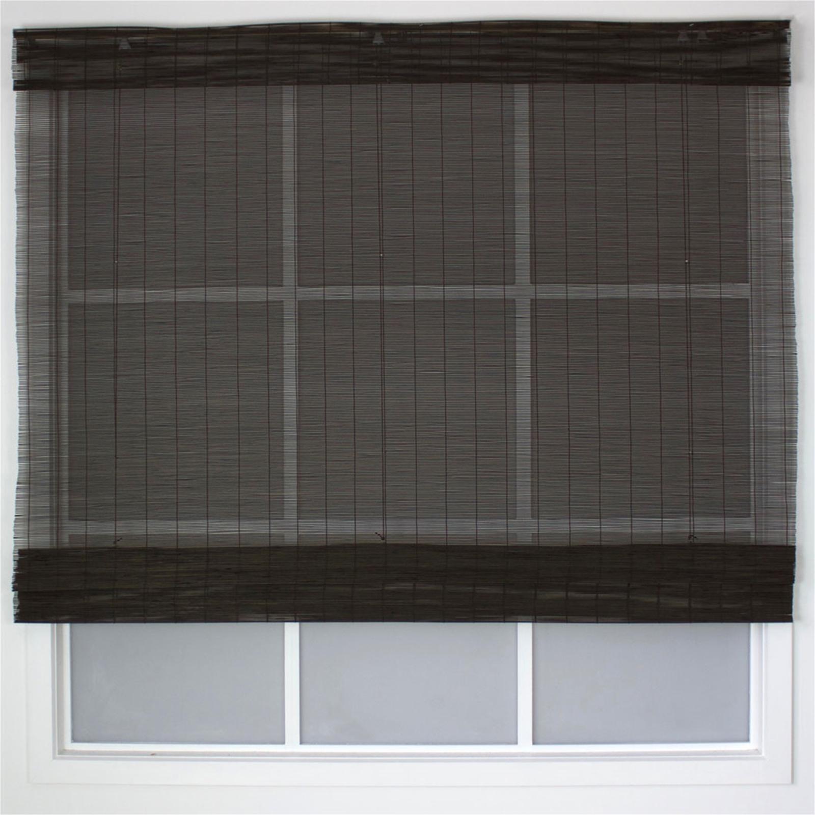Windoware California Matchstick Indoor Roman Blind - 1800mm x 2100mm Mahogany