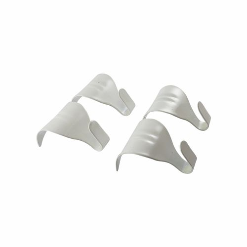 Everhang 24mm White Moulding Hooks - 4 Pack