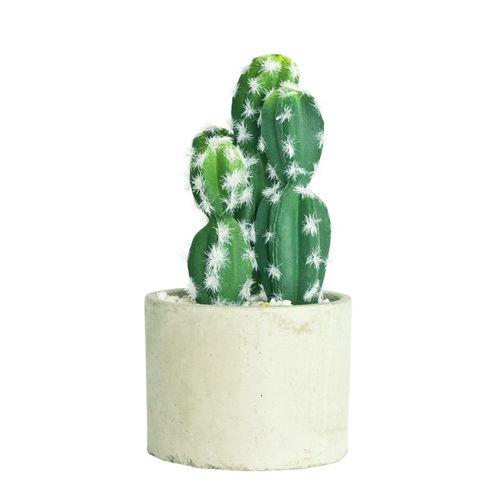 UN-REAL 19cm Artificial Cactus In Concrete Pot