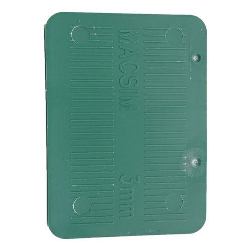 Macsim Fasteners 72 x 100 x 3mm Green Half Shim - 6 Pack